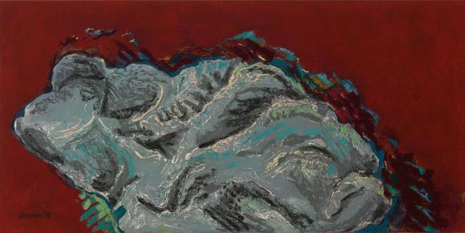 Auster – Detail auf rot